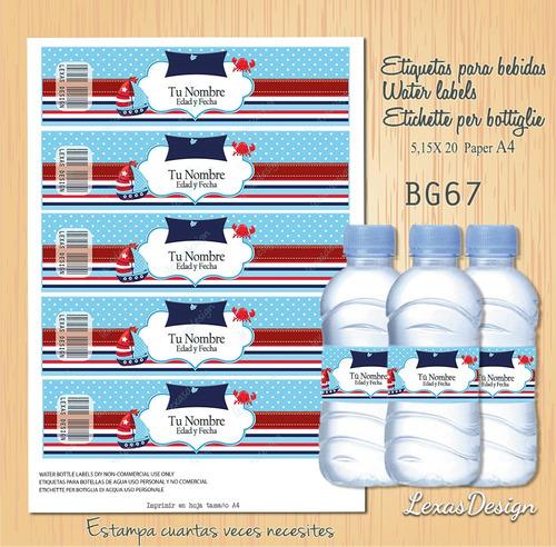 etiquetas botellas nautico varon bg67