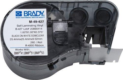 etiquetas brady m-49-427 para impresoras bmp53-bmp51