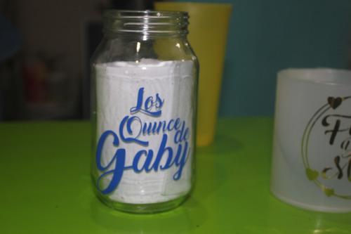 etiquetas calcomanias para vasos personalizados