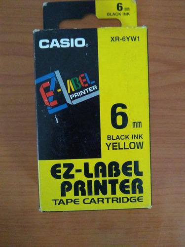 etiquetas  casio 6mm. xr-6rd1