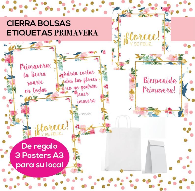 Etiquetas - Cierra Bolsas Imprimibles - Dia Primavera - $ 40,00 en ...
