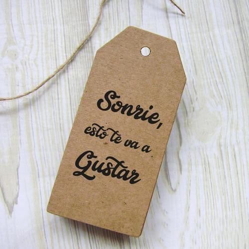 etiquetas, colgantes, tags,  boutique, cartón (36 unidades)