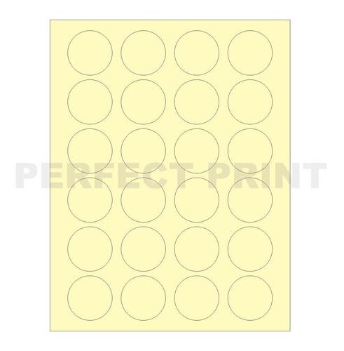 etiquetas color amarillo redondas circular 4cm x 1200 candy