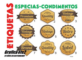 Mitad de precio genuino mejor calificado predominante Etiquetas Condimentos-especias Para Frascos X40 Un Z. Norte