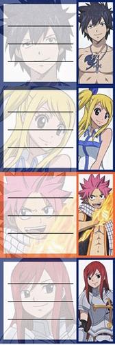etiquetas de colegio de anime de fairy tail natsu lucy