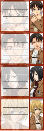 etiquetas de colegio de shingeki no kyojin attack on titan