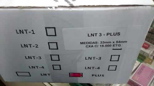 etiquetas de composição têxtil lnt-1-2-3-4.cx com 500 folhas
