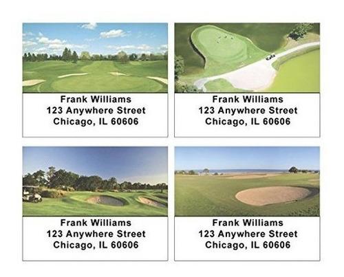 etiquetas de dirección de campos de golf
