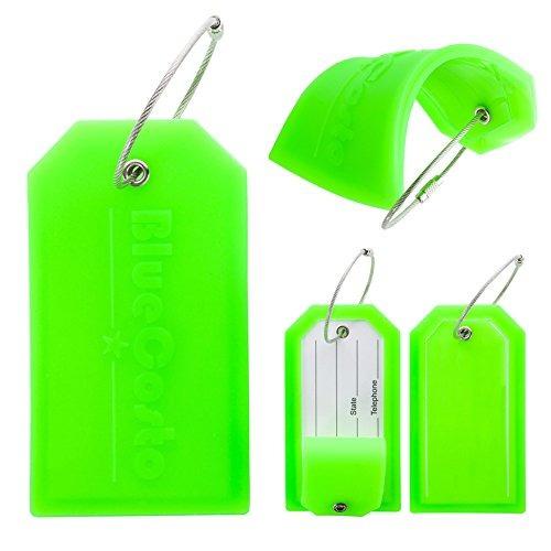 etiquetas de maletas con etiquetas de equipaje bluecosto con