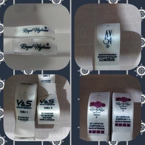 etiquetas de ropa camisa personalizadas raso 1.5 o1.3x10 f.b