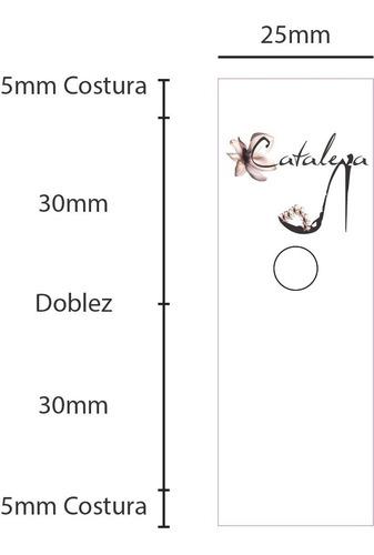 etiquetas de ropa sublimadas(100) corte electrónico