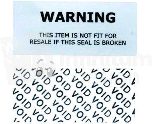 etiquetas de seguridad void,100% seguros