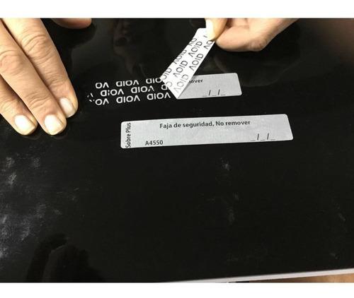 etiquetas de seguridad x 500 u. de 46mm x20mm