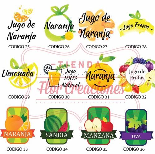 etiquetas en vinilo para frascos- frases personalizados