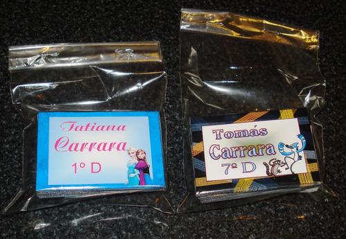 etiquetas escolares autoadhesivas-cuadernos-lápices-útiles