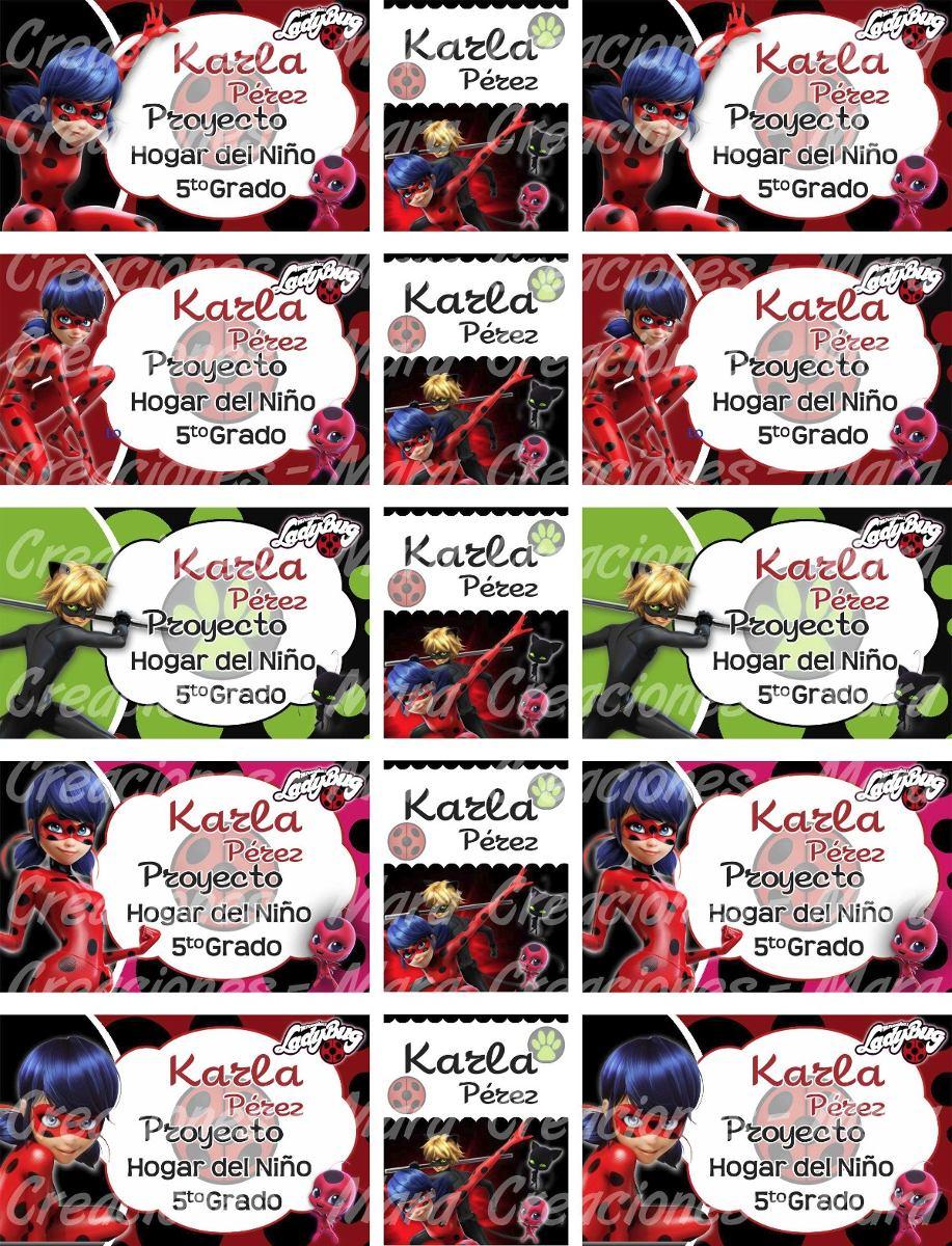Etiquetas Escolares Imprimibles Kit Completo Ladybug - Bs. 3,00 en ...