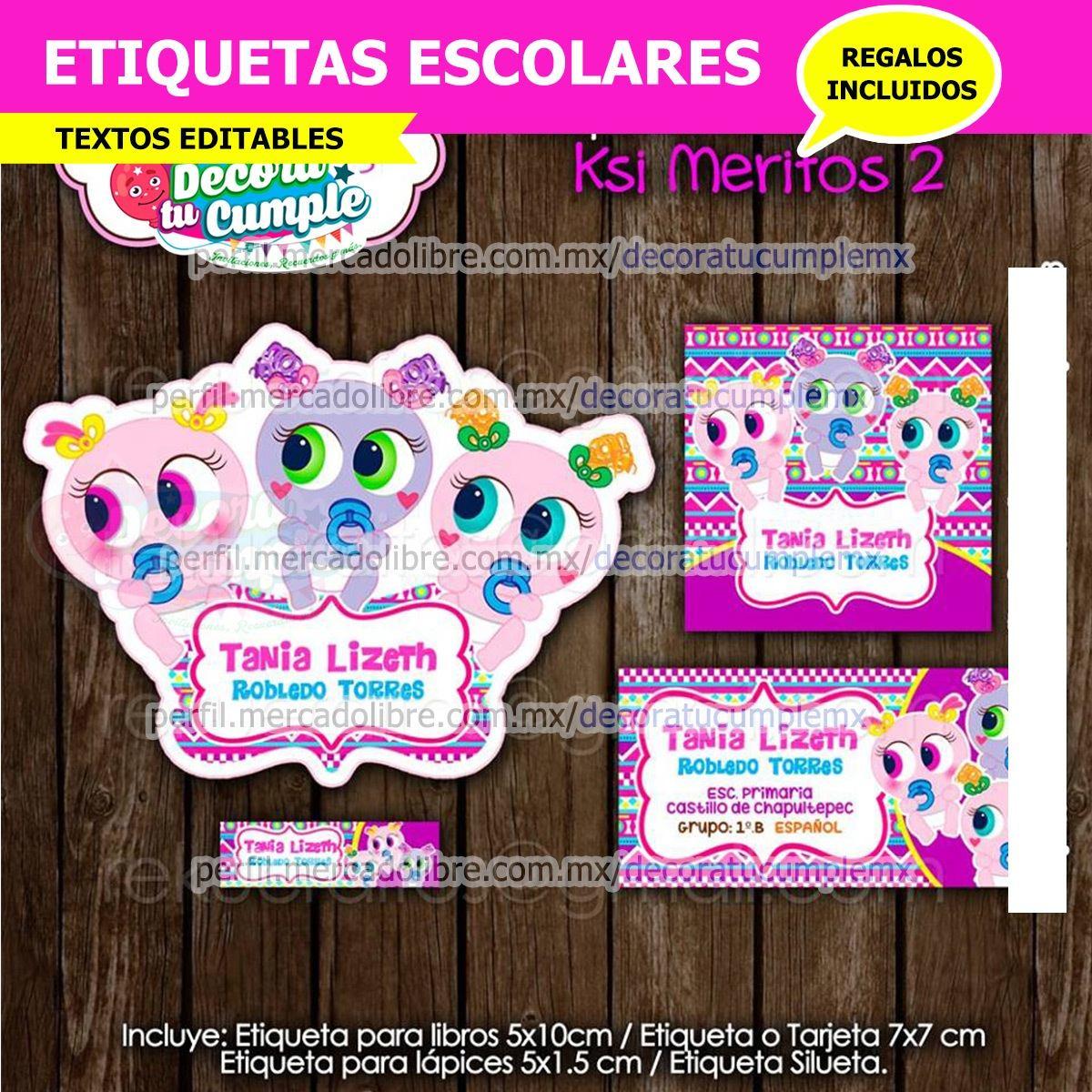 etiquetas escolares kasimeritos 2 ksi meritos h249