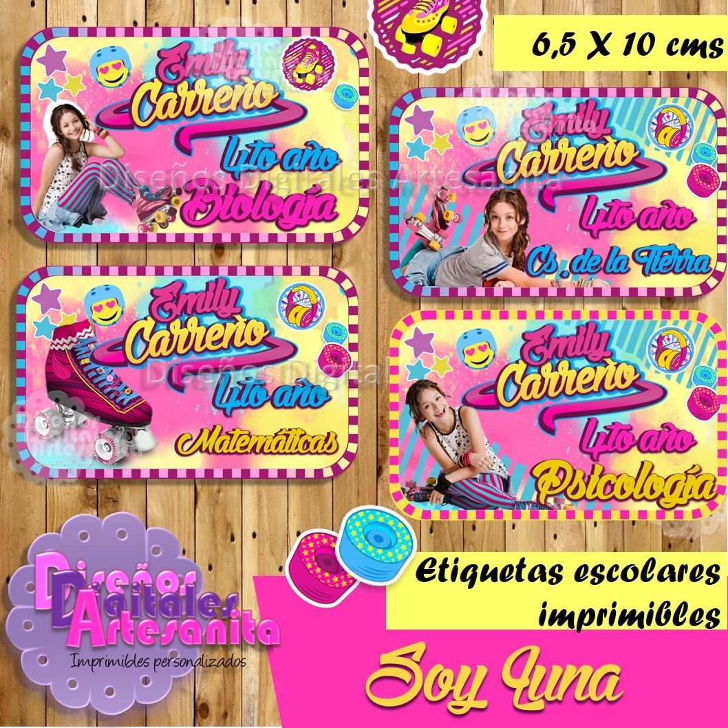 Etiquetas Escolares Personalizadas Imprimibles Soy Luna - Bs. 12,00 ...