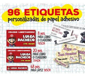 Etiquetas Escolares Personalizadas Para Lápices Y Cuadernos