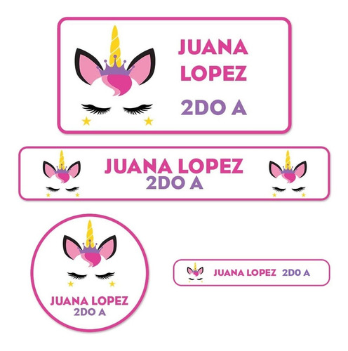 etiquetas escolares personalizadas x200 para útiles cuaderno
