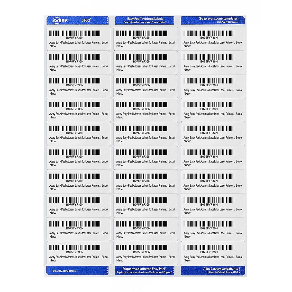 Etiquetas Etas 1 X 2 58 Adhesivo Permanente Easy Peel (5260 ...