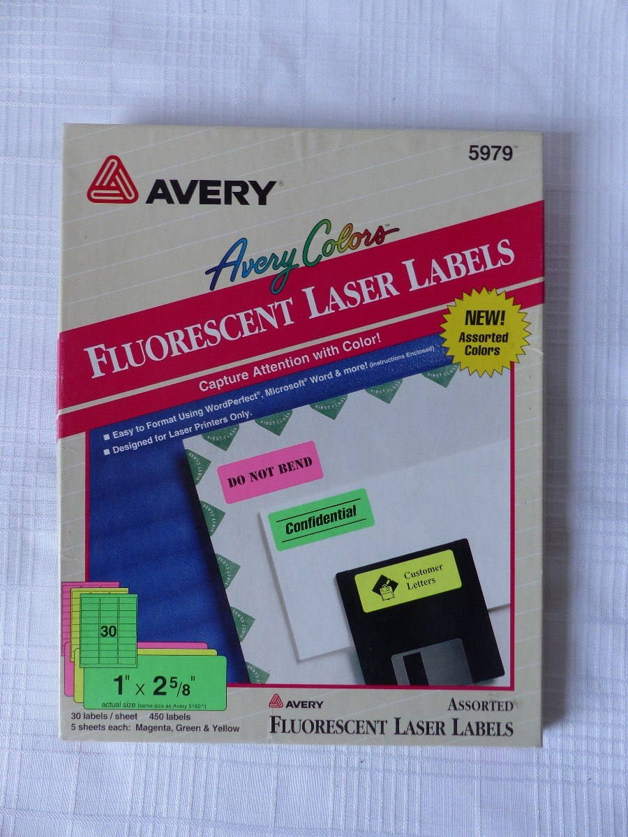 etiquetas fluorecentas para laser avery 5979 bs 3 500 000 00 en
