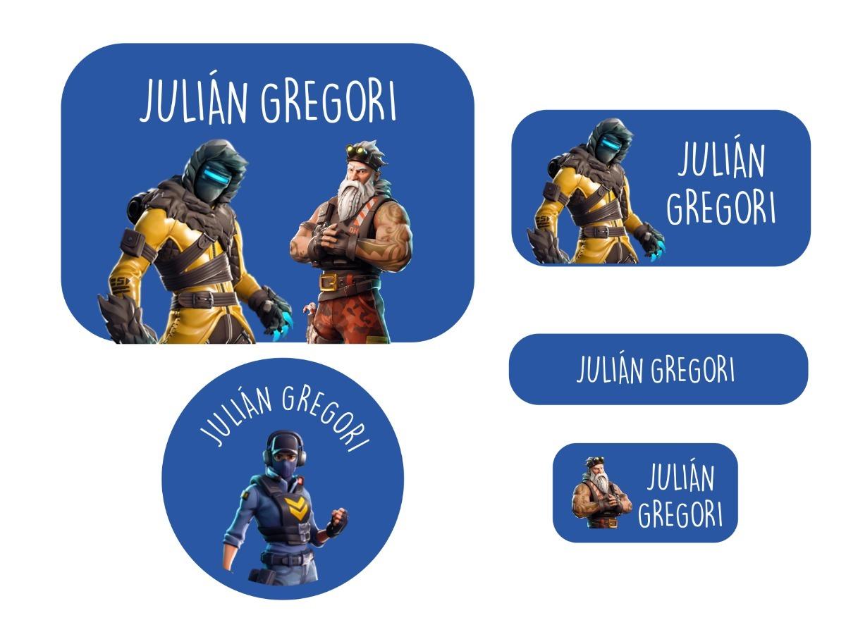 etiquetas fortnite personalizadas para utiles escolares cargando zoom - etiquetas para cuadernos de fortnite para imprimir