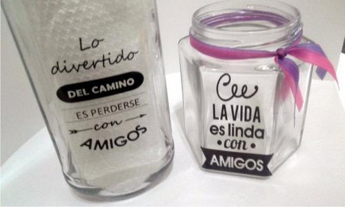 etiquetas frascos botellas x12 unid 8x6cm lavables vinilo