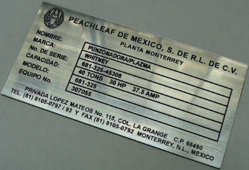 Etiquetas Identificacion P Maquinaria Estantes Camiones
