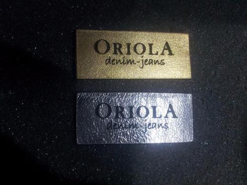 etiquetas jeans - diseño, corte, marcado y grabado laser -