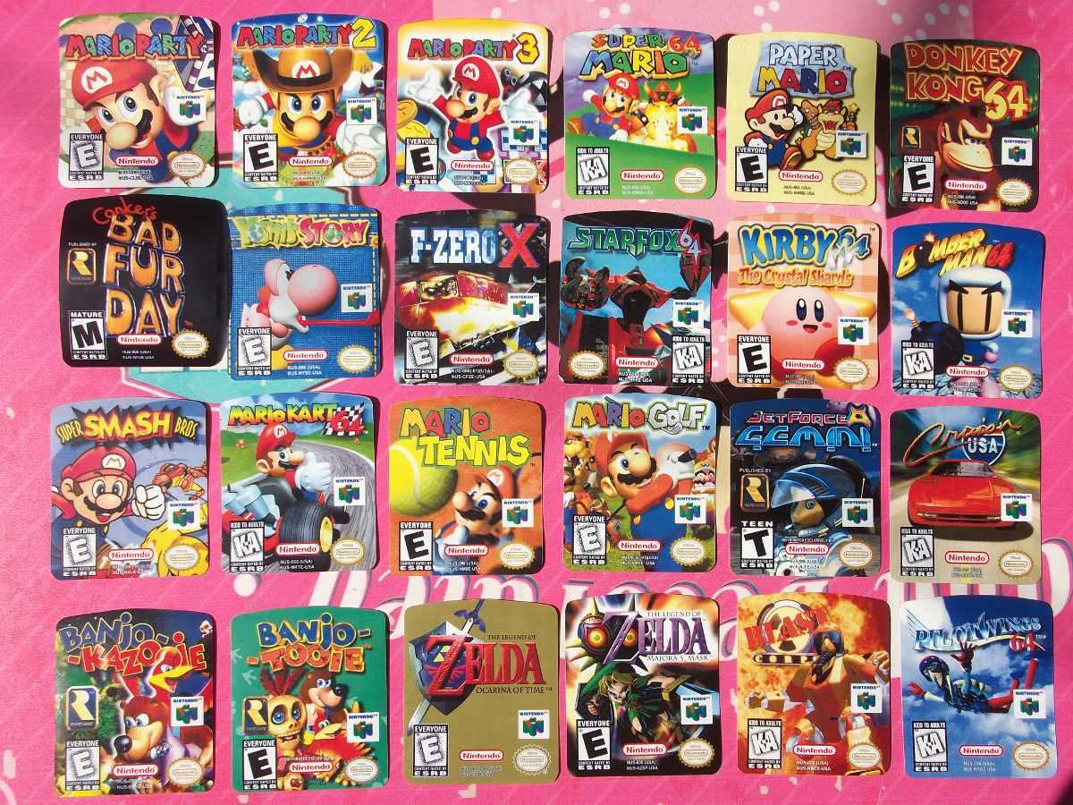 Etiquetas Labels Nintendo 64 Snes Super Nintendo 180 00 En