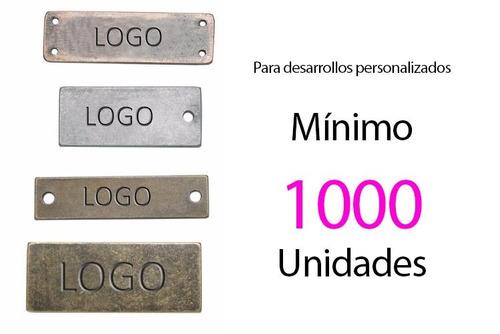 etiquetas metalicas personalizadas.botones.hebillas y mas.