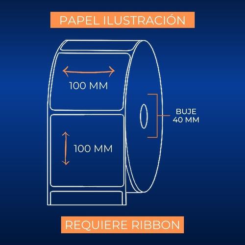 etiquetas papel ilustración 500 unidades 100x100 mm