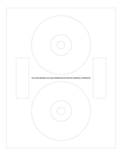 etiquetas para cd dvd 100 unidades
