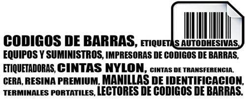 etiquetas para codigos de barras, equipos y suministros
