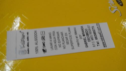etiquetas para ropa