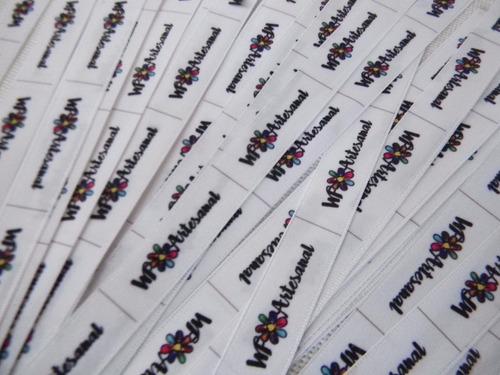 etiquetas para ropa, carteras de raso 1.5 x 5 cms (bambary)