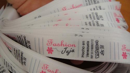 etiquetas para ropa trajes de baño bucler 1.5x5cm
