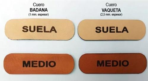 etiquetas parches cuero 100% vacuno grabados laser