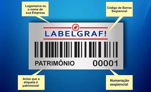 etiquetas patrimoniais direto da fábrica 10mil modelos