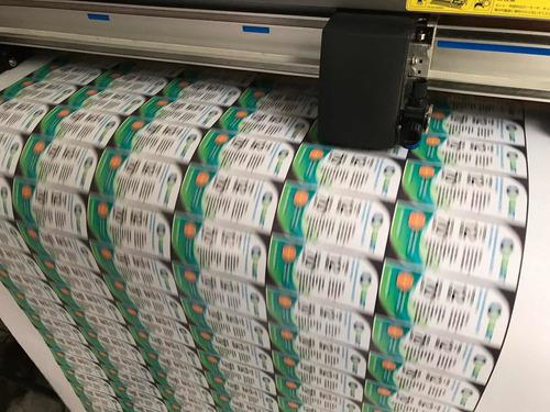 etiquetas personalizadas en vinil hd con corte al contorno