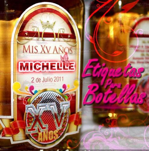etiquetas personalizadas para botellas de vino, agua y mas
