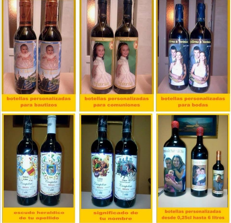 Etiquetas personalizadas para botellas de vino agua y mas - Botelleros de vino ...