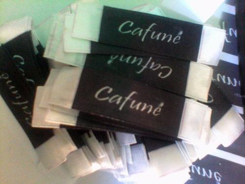 etiquetas personalizadas ropa, negro calzado, sencamer