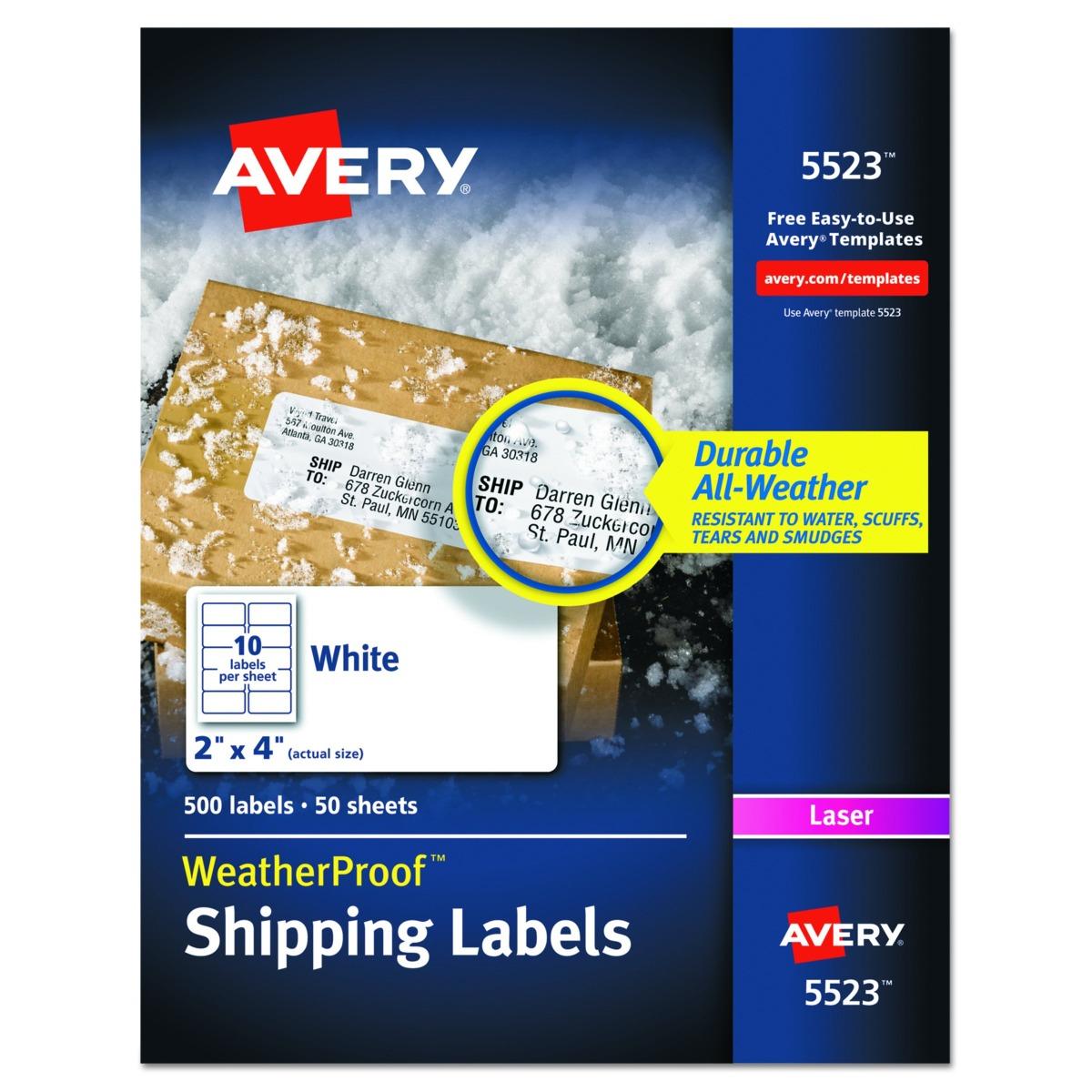 Etiquetas Postales Avery Weatherproof Con Tecnología Trueblo ...