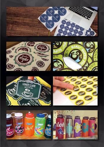 etiquetas stickers calcos. impresion y corte. ruteo. vinilo