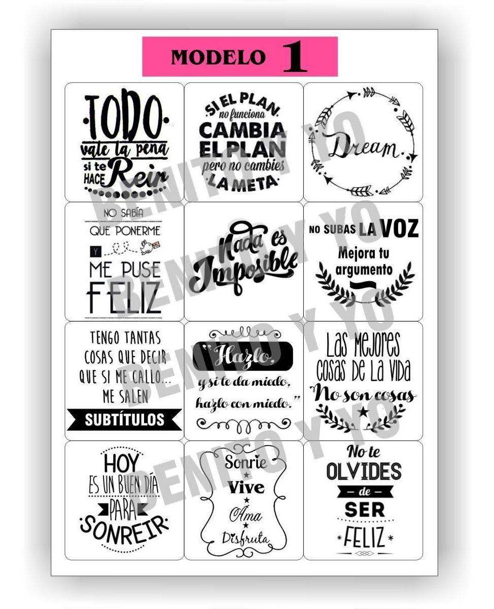 Stickers Con Frasi.Etiquetas Stickers Con Frases Para Frascos X 12 Unidades