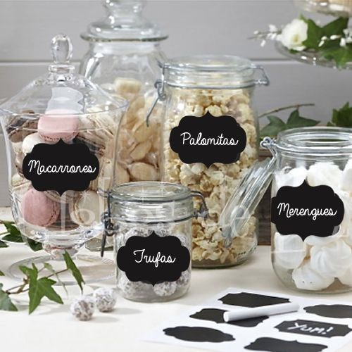 etiquetas stickers pizarra props candy bar 7x5 cm