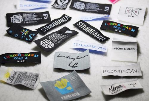 etiquetas tejidas para ropa calzado marquillas woven labels