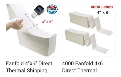 etiquetas termica directa para impresora zebra 4 x 6 pulgada